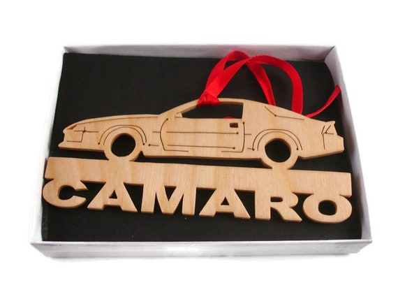 Camaro Christmas Ornament Handmade from Birch Wood By KevsKrafts