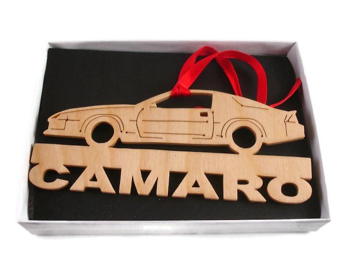 Camaro Christmas Ornament Handmade from Birch Wood By KevsKrafts BN-14LB