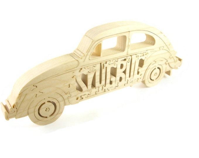 SlugBug VW Beetle Wood Scroll Saw Puzzle Handmade By KevsKrafts