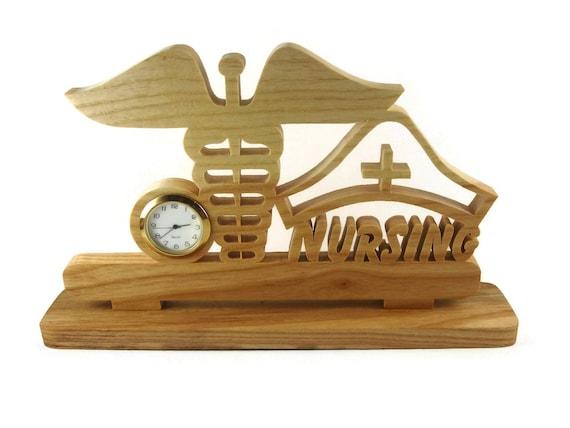 Nurse Desk Or Shelf Clock Handmade From Ash Wood By KevsKrafts NFB-1
