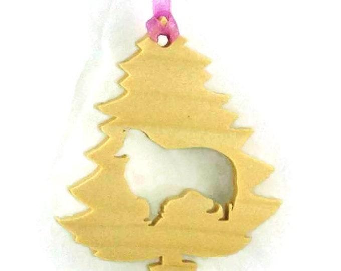 Sheltie, Shetland Sheepdog Christmas Ornament Handmade From Birch Wood, Christmas Decoration BN-6-M1