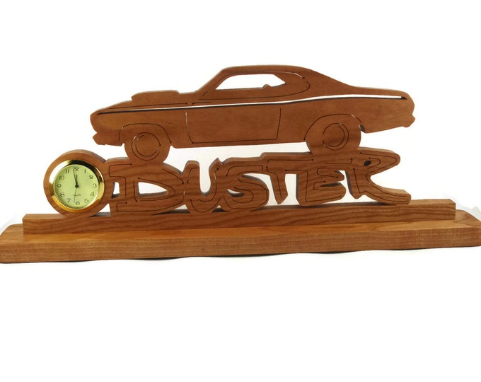 Duster Desk Or Shelf Clock Handmade From Cherry Wood By KevsKrafts