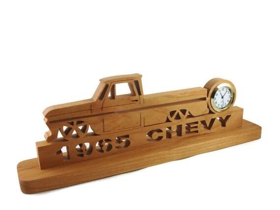 Slammed 1965 Chevy C10 Pickup Truck Desk Clock