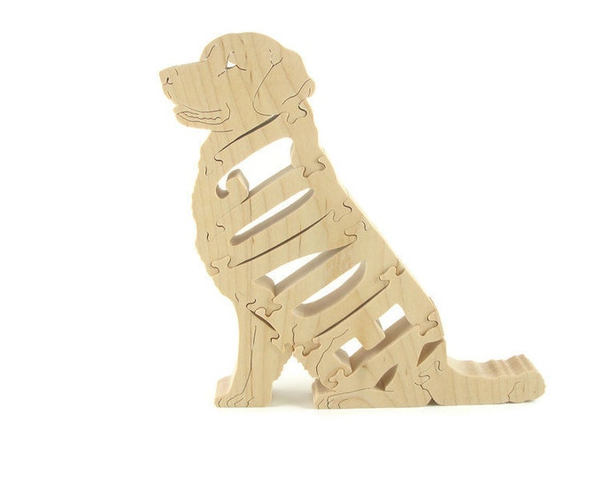 Golden Retriever Wood Scroll Saw Puzzle Handmade By KevsKrafts