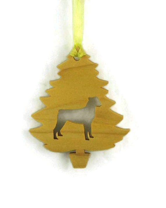 Rottweiler Christmas Tree Ornament Handmade From Poplar Wood