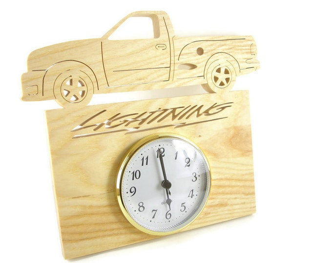 2000 Ford Lighting Truck Wall Hanging Clock Handmade From Ash Wood By KevsKrafts