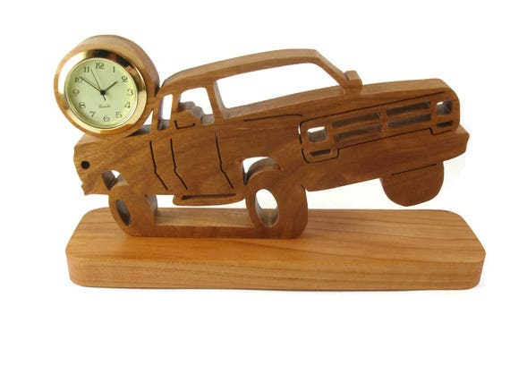 First Gen Dodge Club Cab Pickup Truck Desk Clock Handmade From Cherry Wood By KevsKrafts