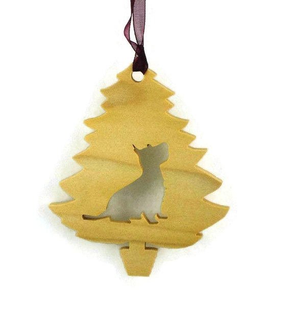 Westie Christmas Tree Ornament Handmade From Poplar Wood