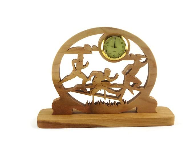 5K Runners Desk Or Shelf Clock Handmade From Cherry Wood By KevsKrafts Woodworking NFB-1