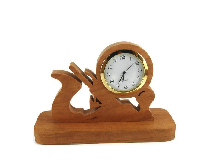 Woodworkers Plane Desk Or Shelf Clock Handmade From Cherry Wood By KevsKrafts