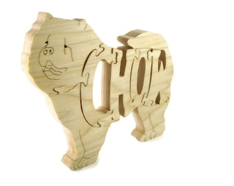Chow Chow Dog Wooden Jigsaw Puzzle Handmade By KevsKrafts