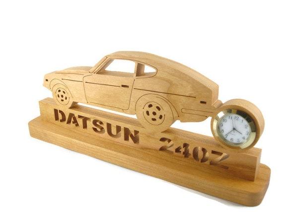 Datsun Nissan 240Z Desk Clock Handmade From Cherry Wood By KevsKrafts