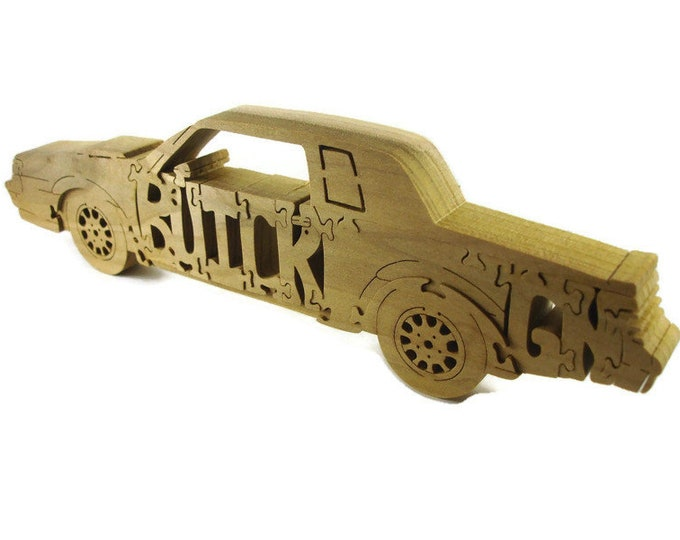 Buick Grand National Wood Puzzle Handmade From Poplar Wood by KevsKrafts