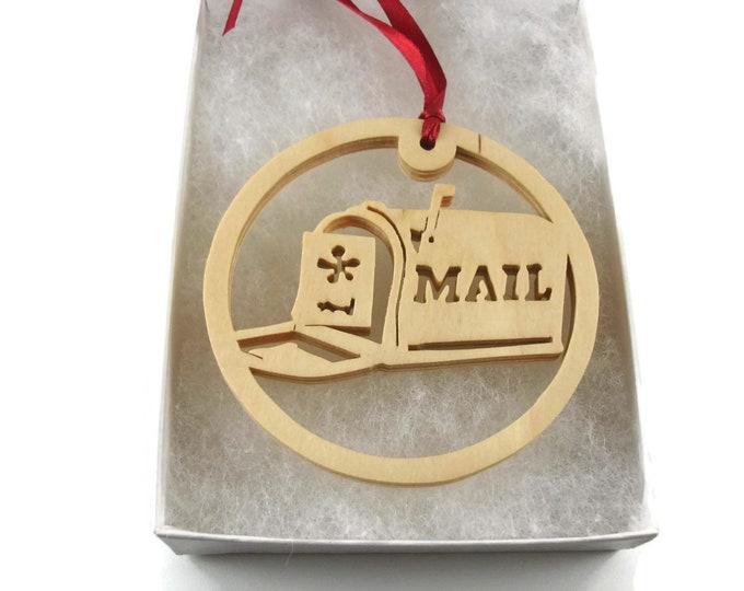 Mailbox Christmas Ornament Handmade From Birch Wood By KevsKrafts BN-7