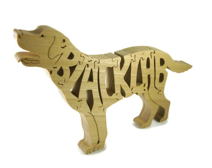 Black Labrador Wood Dog Scroll Saw Puzzle