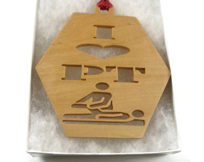Physical Therapist Or Assistant Christmas Ornament Handmade From Maple Wood By KevsKrafts BN-6-03
