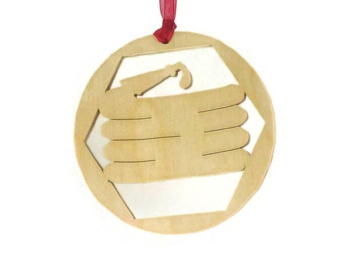Fireman Fire Hose Christmas Ornament Handmade From Birch Plywood, Christmas Decoration BN-8
