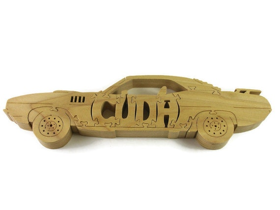 Plymouth Barracuda Wood Jigsaw Puzzle Handmade From Poplar Wood