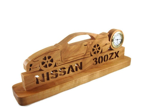 Nissan 300ZX Z32 Tuner Car Desk Or Shelf Clock Handmade From Cherry Wood By KevsKrafts
