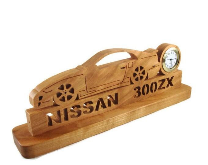 Nissan 300ZX Z32 Tuner Car Desk Or Shelf Clock Handmade From Cherry Wood By KevsKrafts