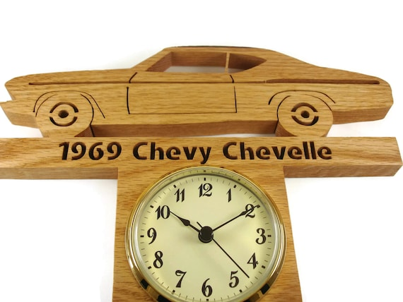 Chevelle Wall Hanging Clock Handmade From Oak Wood By KevsKrafts
