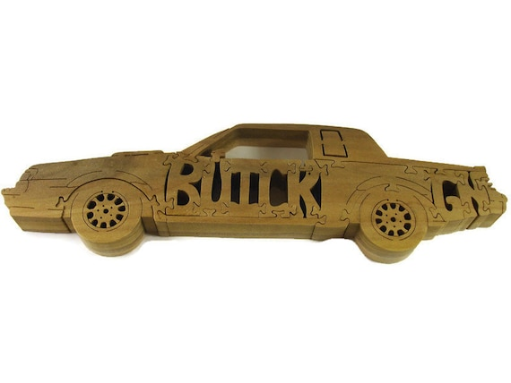 Buick Grand National Wood Jigsaw Puzzle Handmade From Poplar Wood by KevsKrafts