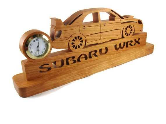 Subaru Impreza WRX Rally Car Desk Or Shelf Clock Handmade From Cherry By KevsKrafts