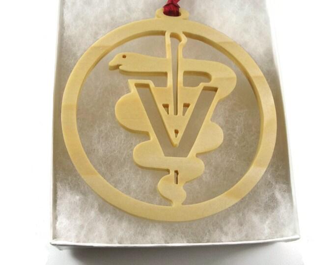 Veterinarian Christmas Ornament Handmade From Birch Wood By KevsKrafts BN-002-5