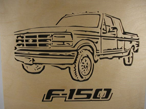 Ford F-150 Wall Hanging Art Decor Portrait Handmade From Birch Wood