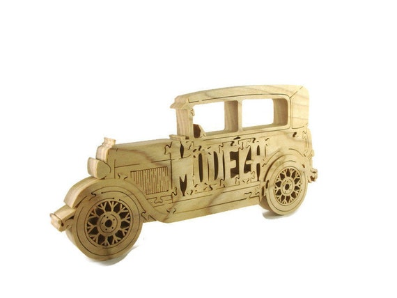 Ford Model A Hardwood Scroll Saw Puzzle Handmade By KevsKrafts