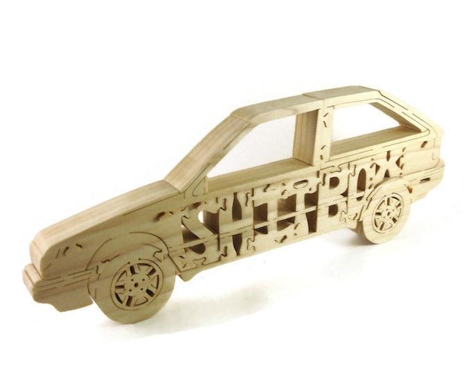 Geo Spectrum Shit Box Scroll Saw Puzzle Handmade From Poplar Wood By KevsKrafts