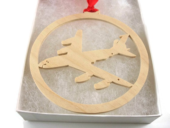 Boeing KC-135 Stratotanker Christmas Tree Ornament Handmade From Birch Wood By KevsKrafts BN-5-006