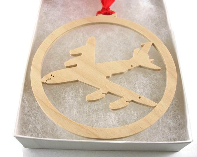 Boeing KC-135 Stratotanker Christmas Tree Ornament Handmade From Birch Wood By KevsKrafts BN15