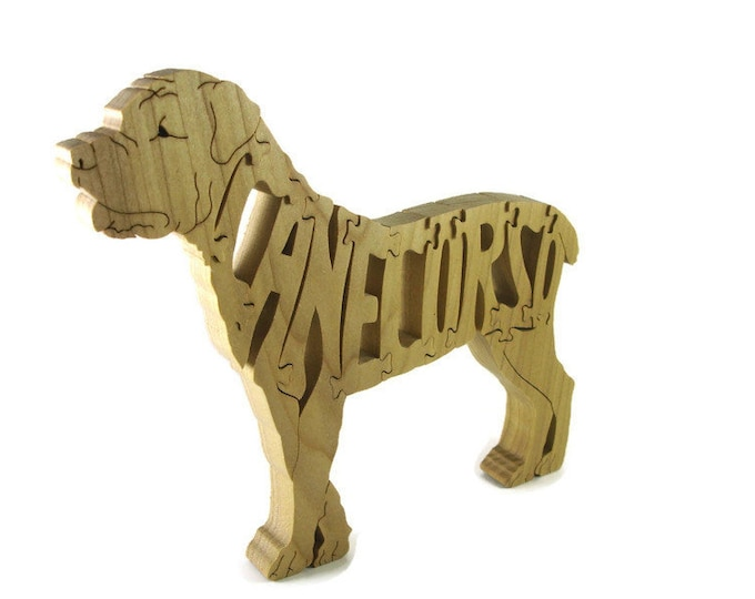 Cane Corso Dog Wooden Jigsaw Puzzle Handmade From Hardwood By KevsKrafts