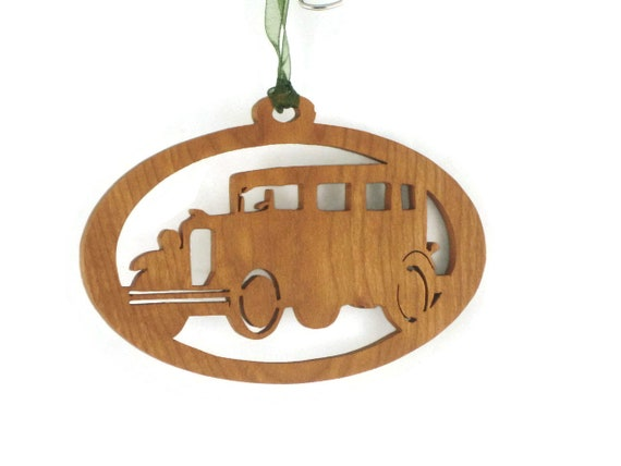 1931 Chevy Sedan Christmas Ornament Handcrafted from Cherry Wood