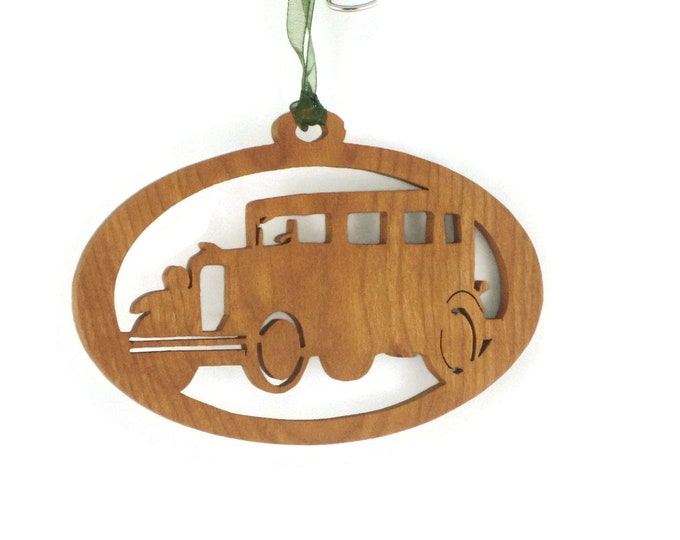 1931 Chevy Sedan Christmas Ornament Handcrafted from Cherry Wood BN-15