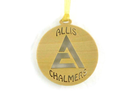Allis Chalmers Tractor Christmas Ornament Handmade from Poplar Wood