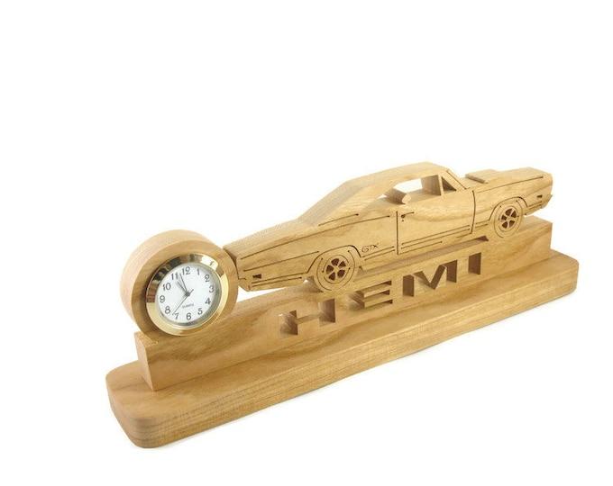 Plymouth GTX Hemi Quartz Clock Handmade From Cherry Wood By KevsKrafts
