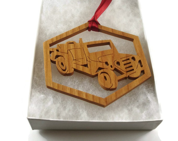 Military Jeep Christmas Ornament Handmade From Cherry Wood By KevsKrafts