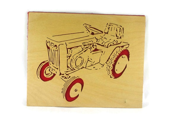 Wheel Horse Model 953 Garden Tractor Wood Portrait Handmade From Birch Wood By KevsKrafts