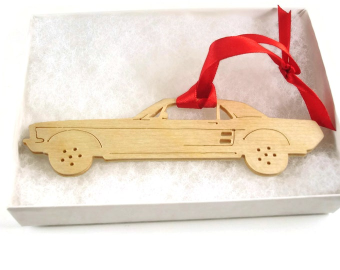 1960's Style Ford Mustang Christmas Ornament Handmade from Birch Craft Plywood By KevsKrafts BN-7