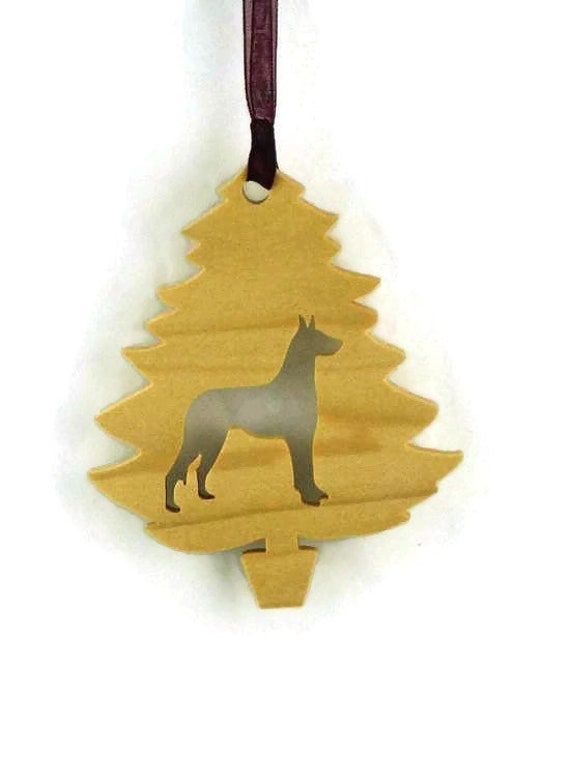 Great Dane Christmas Tree Ornament Handmade From Poplar Wood, Deutsche Dogge, German Mastiff