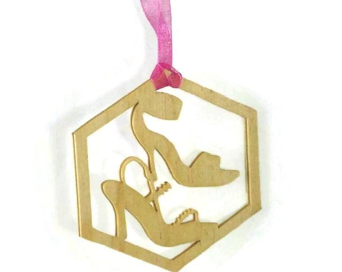Women's High Heel Shoes Christmas Ornament Handmade From Birch Wood, Stilettos, Shoe Ornament, Shoe Fetish, Girls High Heel Shoes