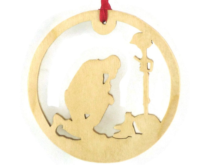 Fallen Soldier Christmas Ornament Handmade From Birch Plywood All Gave Some Some Gave All