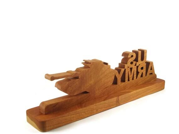 Us army bureau ou une étagère horloge fait main à partir de bois
