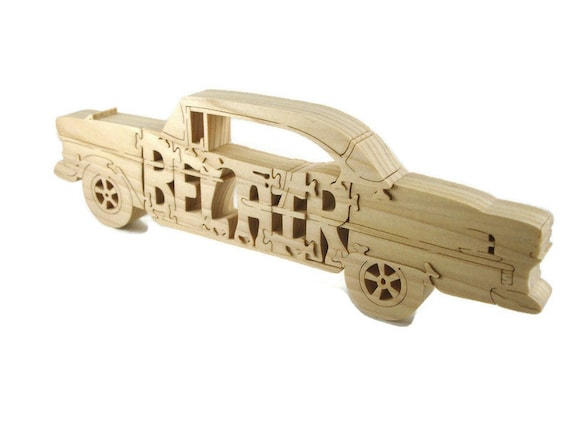1955 Chevy Bel Air Wood Jigsaw Puzzle