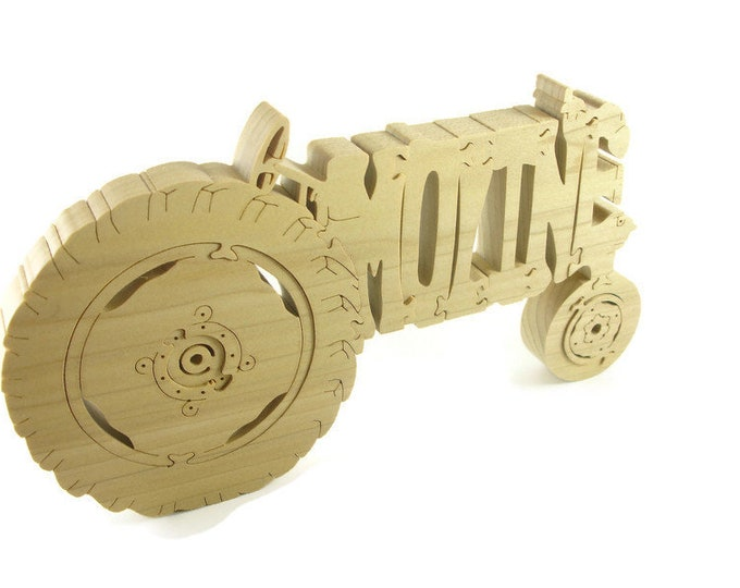 Minneapolis Moline Tractor Wood Scroll Saw Puzzle Handmade By KevsKrafts
