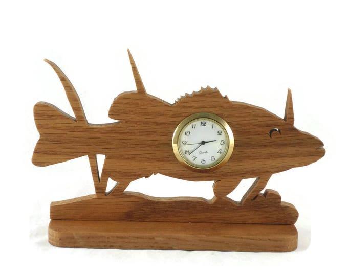 Fish In The Sea Scene Desk Or Shelf Clock Handmade From Oak By KevsKrafts