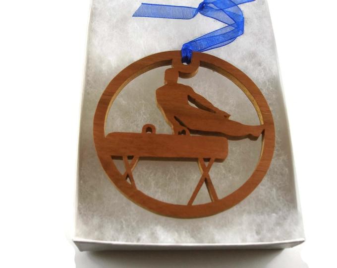 Gymnastics Or Gymnast Christmas Ornament Handmade From Cherry Wood By KevsKrafts