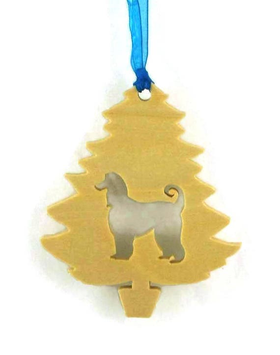 Afghan Christmas Tree Ornament Handmade From Poplar Wood, Pet Ornament, Dog Ornament, K9 Ornament, Wood Ornament, Christmas Decoration